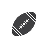 American football ball icon vector, filled flat sign, solid pictogram isolated on white.