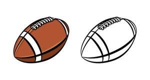 American Football Ball Illustration Stock Image