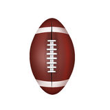 American  football  ball  isolated on a white background Royalty Free Stock Photo