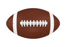American Football Ball Isolated. On white background. 3D render Stock Image