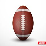 American Football ball isolated on a white background Stock Image