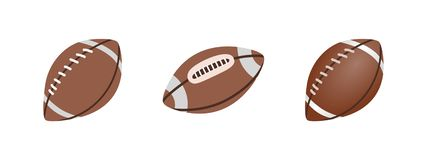 American Football ball isolated on a white background. Realistic Vector Illustration. Rugby sport. American Football ball isolated on a white background vector illustration