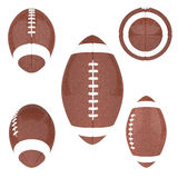 American Football ball isolated on a white background stock illustration