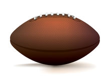 American Football Ball Isolated on White Illustration Royalty Free Stock Images
