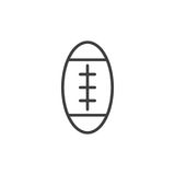American football ball line icon, outline vector sign Stock Images