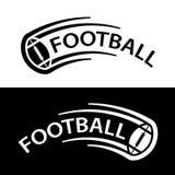American football ball motion line symbol Royalty Free Stock Photos