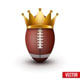 American football ball with royal crown Royalty Free Stock Image