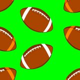 American football ball seamless pattern. Rugby ball background royalty free illustration