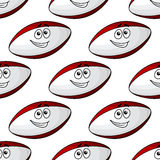 American football ball seamless pattern Royalty Free Stock Images