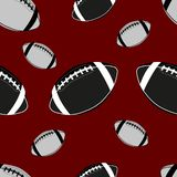 American football ball seamless pattern. Rugby ball background vector illustration