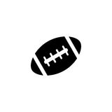 American football ball solid icon, college sport Stock Image