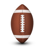 American Football Ball. Traditional American football ball, with laces and white stripes isolated on a white background with clipping path and shadow Royalty Free Stock Photos