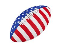 American Football Ball with USA Flag Isolated Stock Photography