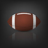 American football ball. Vector EPS10 illustration. Royalty Free Stock Images