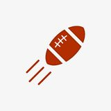 American football ball vector icon Stock Images