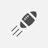 American football ball vector icon Stock Photos
