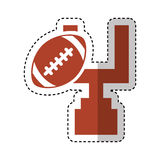 American football balloon with arch icon Royalty Free Stock Photos