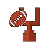 American football balloon with arch icon Stock Images