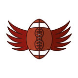 American football balloon with wings icon Royalty Free Stock Images