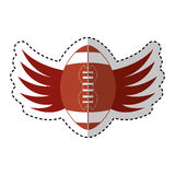 American football balloon with wings icon Royalty Free Stock Image