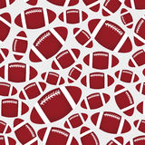 American football balls seamless color sport pattern eps10 Stock Photography