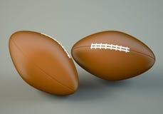 American football balls Stock Image