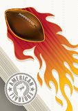 American football banner Royalty Free Stock Photography