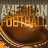 American football banner. Stock Image