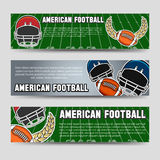 American football banners Stock Photos