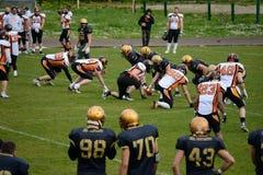 American Football Bergamo Lions vs Milano Rhinos Stock Photo