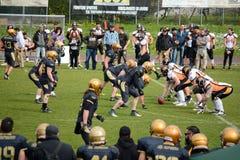 American Football Bergamo Lions vs Milano Rhinos Stock Image
