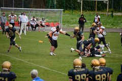 American Football Bergamo Lions vs Milano Rhinos Royalty Free Stock Photo