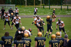 American Football Bergamo Lions vs Milano Rhinos Stock Images
