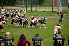 American Football Bergamo Lions vs Milano Rhinos Royalty Free Stock Photography
