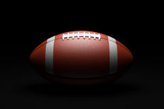American Football on black background. 3D illustration Stock Photography