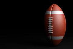 American Football on black background. 3D illustration Royalty Free Stock Photos