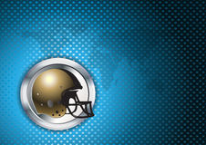 American football blue chrome background Stock Image