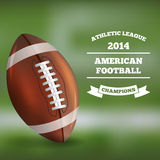 American Football on Blured Background. Vector Royalty Free Stock Photos