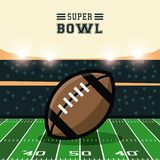 American football bowl tournament. Icon vector illustration graphic design Royalty Free Stock Photography