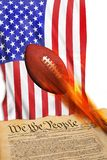 We the People Football. Royalty Free Stock Images