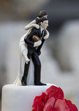American Football Cake topper. American Football wedding Cake topper royalty free stock images