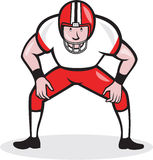 American Football Center Snap Front Cartoon Stock Photos