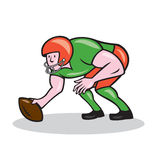 American Football Center Snap Side Cartoon Royalty Free Stock Photo