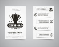 American football champions back and front flyer Royalty Free Stock Image