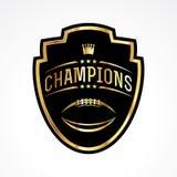 American Football Champions Badge Emblem Illustration Stock Photography