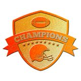 American football champions shield Stock Photos