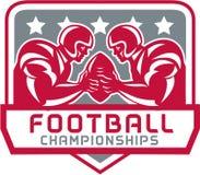 American Football Championship Crest Retro Stock Images
