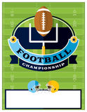 American Football Championship Flyer Illustration Stock Photography