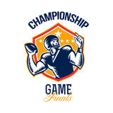 American Football Championship Game Finals Shield Royalty Free Stock Photography