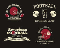 American football championship, team training camp Stock Image